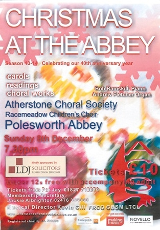Atherstone Choral Society Christmas Concert
