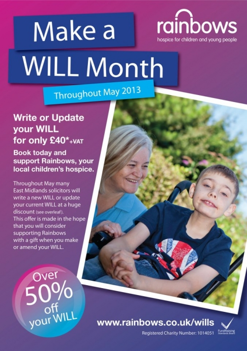 Rainbows Hospice Make a Will Month