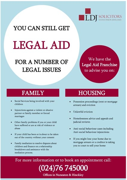 Legal Aid is still Available